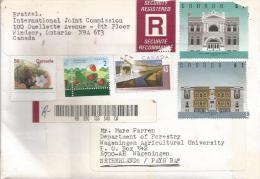 Canada 1996 Windsor Buildings Barcoded Registered Cover - Brieven En Documenten