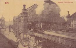 ALLEMAGNE,GERMANY,DEUTSCH LAND,BERLIN,BAHNHOF FRIEDRICHSTRASSE,TRAIN,GARE,1900 - Unclassified