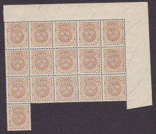 Sweden 1911 Mi. 66    3 Öre Wappen In 16-Block (2 Scans) MNH - Suède