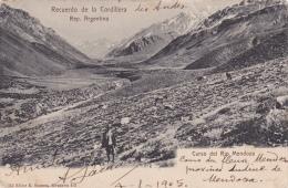 AMERIQUE,AMERICA,ARGENTIN E EN 1904,ARGENTINA,RECUERDO DE LA CORDILLERA,paysan,curso Del Rio Mendoza - Argentina
