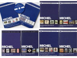 Stamp Europa A-Z 2013/2014 Catalogue New 465€ MICHEL Part 1-7 Plus Germany Stamps D A B BG SF UK P I E NL N CH S TR L DK - Old Paper