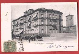BIT2-01 Livorno  Grand Hôtel, Calusso, Calèches. Pioneer. Cachet Livorno Et Neuchâtel 1900 - Livorno