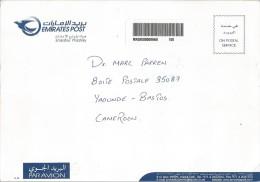 United Arab Emirates 2010 Dubai Post Office Official Franking Barcoded Registered Cover - Verenigde Arabische Emiraten