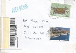 Malta 2011 San Gwann Crab Marine Life Valletta Barcoded Registered Cover - Malta