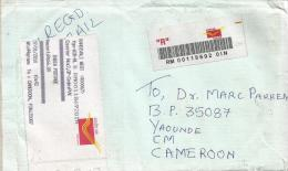 India 2010 Kandivali West Post Office Meter Franking Barcoded Registered Cover With Customs Declaration - India