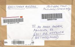 India 2012 Jabalpur Post Office Meter Franking Barcoded Registered Cover - India