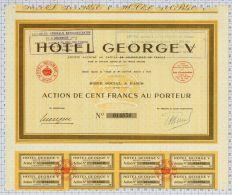 Hotel Georges V - Tourisme
