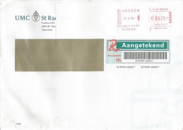 Detherlands 2006 Nijmegen Meter Franking Barcoded Registered Cover - Marcofilie - EMA (Print Machine)