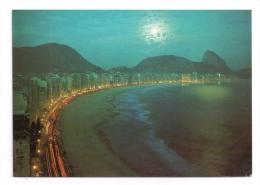 CP, BRESIL, Rio De Janeiro, Vista Noturna De Copacabana, écrite, Voyagé - Rio De Janeiro