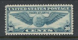 USA 1939 Air Mail Scott # C 24. Transatlantic Issue,  MH (*) - 1b. 1918-1940 Unused