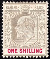 Bahamas  1902  Wmk  Crown CA   SG67  Hinged Mint - Bahamas (...-1973)