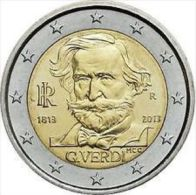 "ITALIA ITALIE ITALY 2 EURO COMM. 2013  FDC DA ROT. "" 200° Ann. Nascita Giuseppe Verdi "" - Italia"
