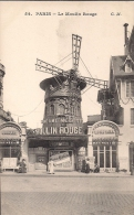 TARJETA FRANCESA, PARIS, LE MOULIN ROUGE, SIN CIRCULAR, CABARET - Cabaret