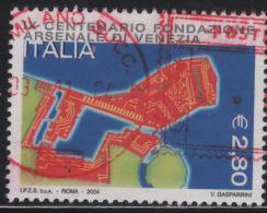 20977  Italia 2004 9° Centenario Arsenale Di Venezia € 2.80 Usato - 2001-10: Usati