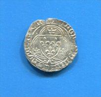Chales 8  Blanc  Ala  Couronne  De  Bretagne - 1483-1498 Karel VIII Van Frankrijk