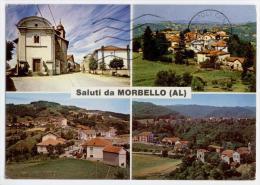 MORBELLO, VEDUTINE E SALUTI, VG 1994, FINESTRELLE, FORMATO GRANDE   **** - Alessandria