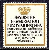 Germany   1912     **    BAVARIAN    EXPO. - Germany