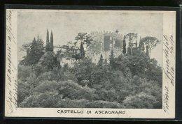 ASCAGNANO  PERUGIA          CARTOLINA FORMATO PICCOLO DI  FINE 800 /900    VIAGGIATA - Perugia