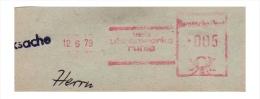 DDR / East-Germany: Stempel 'Uhrenwerke Ruhla, 1979' / Cancel 'Watches Factory', [99842 - O-5906] Ruhla - Uhrmacherei