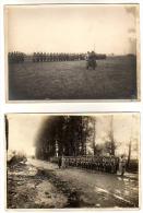2 PHOTOS ORIGINALES  - Revue Troupes - 1914- 1918 - - Guerre, Militaire