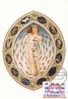 D14893 CARTE MAXIMUM CARD RR FD 1995 NETHERLANDS - SIGNS OF THE ZODIAC NUDE CP ORIGINAL - Astrologia