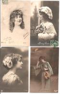 Fantaisies - 4 Cartes De Femmes - Femmes