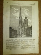28 Août 1834 MAGASIN UNIVERSEL: Eglise Saint-Denis; Abbaye Saint-Wandrille; Les Carabins; Les Aigles - Kranten