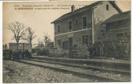 Gare De Burnhaupt Occupée Par Les Soldats Français Fusilier ?  408 Guerre 1914 WWI - Sonstige Gemeinden