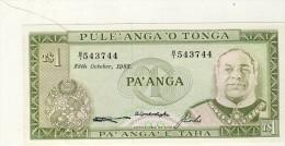BILLET # TONGA # 1 PA ' ANGA # 1982 # PICK 14  # NEUF  # - Tonga