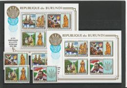 Burundi:  949 A/ D + BF 121 B/C ** - 1980-89: Neufs
