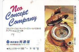 Compass Boussole Kompaß Kompas Sur Carte JAPAN (14) East West South North - Astronomie