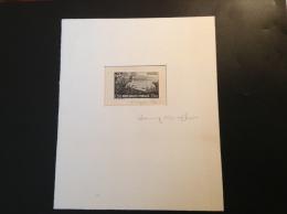 Monaco 1937 1f50 JARDIN ST MARTIN Epreuve D´ Artiste Signé Cheffer,  (Botanique Cactus Plants Kakteen Botanic Garden)