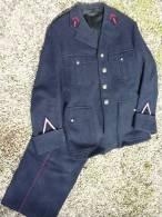 ANCIEN UNIFORME SAPEUR POMPIER ann�es 1950  veste+pantalon+k�pi