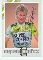 Patrick VAN PASSEL, Autographe Manuscrit, Dédicace. 2 Scans.Super Confex Yoko 1987 - Cycling