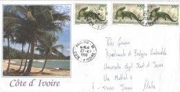 Cote D´Ivoire 1990 Abidjan Crocodile Reptile Cover - Ivoorkust (1960-...)