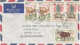 Mali 1965 Bamako RP Buffalo Antilope Red Cross Mother Care Woman Cover - Mali (1959-...)