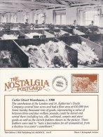 Postcard Ostrich Feathers Cutler Street Warehouse London Docks C1900 Nostalgia Repro - Professions