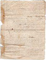 VP848 - BREUIL X ARFEUILLES / LE / BREUIL X SAINT / CLEMENT 1772 - 2 Actes Chateau De La Chaise Mrs  THOU X  C. MARIDET - Seals Of Generality