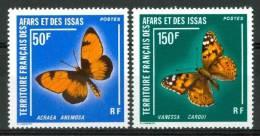 1976 Afars E Issas Farfalle Butterflies Schemetterlinge  Papillons Set MNH** Nu39 - Afars Et Issas (1967-1977)