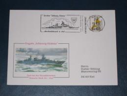 Karte Germany Bund Sonderstempel 1994 24103 Kiel Zerstörer Fregatte Schleswig Holstein AbschiedsbesuchSchiff Ship Boat - Machine Stamps (ATM)