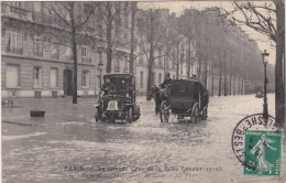 PARIS -LA GRANDE CRUE DE LA SEINE  JANVIER 1910  INONDATION DE L'AVENUE BOSQUET - Inondations De 1910
