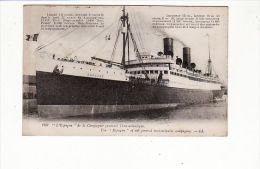 """Carte 1915 Paquebot """"l'espagne"""" De La Cie Gale Transatlantique - Cargos"""