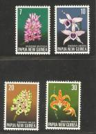 Papua New Guinea 1974 Flower Set 4 MNH Orchids - Papua New Guinea