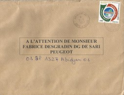 Cote D´Ivoire 2007 Abidjan 26 China Cooperation 250f Internal Cover - Ivoorkust (1960-...)