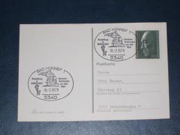Karte Germany Bund Sonderstempel 1979 5340 Bad Honnef Adenauer Briefmarken Aus Aller Welt  Ausstellung In Rhöndorf - Machine Stamps (ATM)