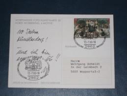 Karte Germany Bund Sonderstempel 1980 2862 Worpswede 100 Jahre Künstlerkolonie Bildpostkarte - Machine Stamps (ATM)