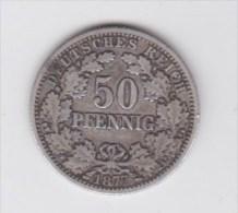 MONNAIE DEUTSCHES ALLEMAND 50 PFENNIG 1877 - 50 Pfennig