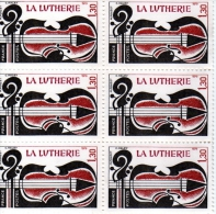 1979 - FRANCE - METIERS DE L ´ART LUTHERIE   - Planche De 6 Timbres N° 2072 - Neufs