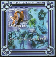 Mozambique 2001 Winter Olympics Salt Lake City Figure Skaters & Dancer Sc 1443 Medalists Sports M/s Cancelled # 7967 - Skateboard