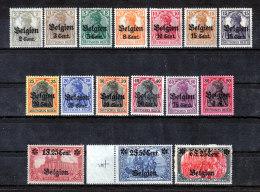 Deutsche Besetzung In Belgien 10-25 * Kompl. Satz !!! - Besetzungen 1914-18